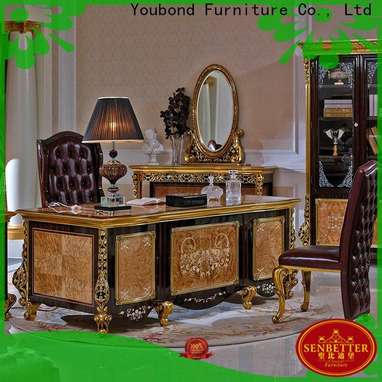 gold classic computer desk for business for hotel