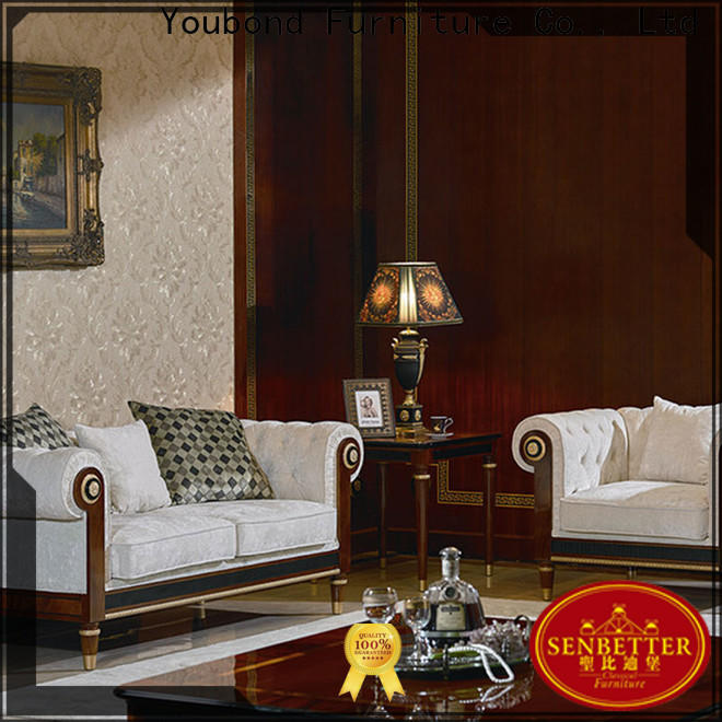 Senbetter latest fancy living room furniture sets with fabric or leather sofa for home