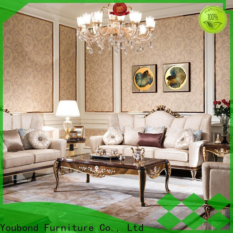 luxury drawing room sofa with brass accessory for hotel