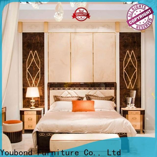 Senbetter newly classic bedroom design with white rim for royal home and villa
