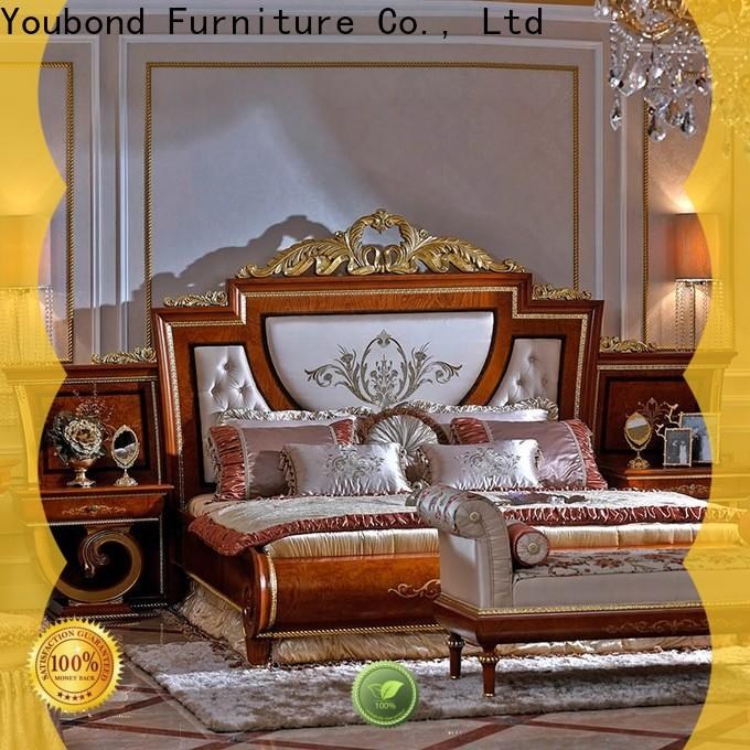 Senbetter veneer traditional bedroom furniture sets with chinese element for decoration