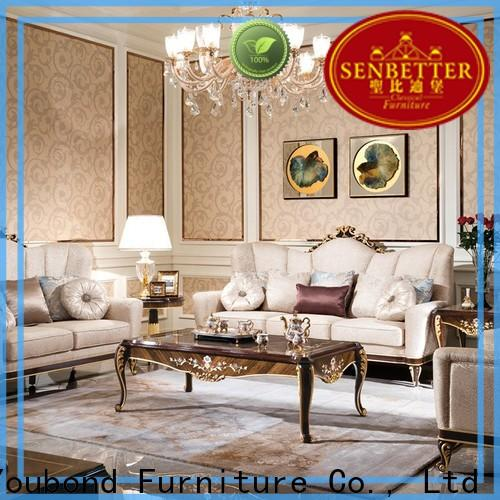 Senbetter classic living room sofa and loveseat sets with chinese element for home