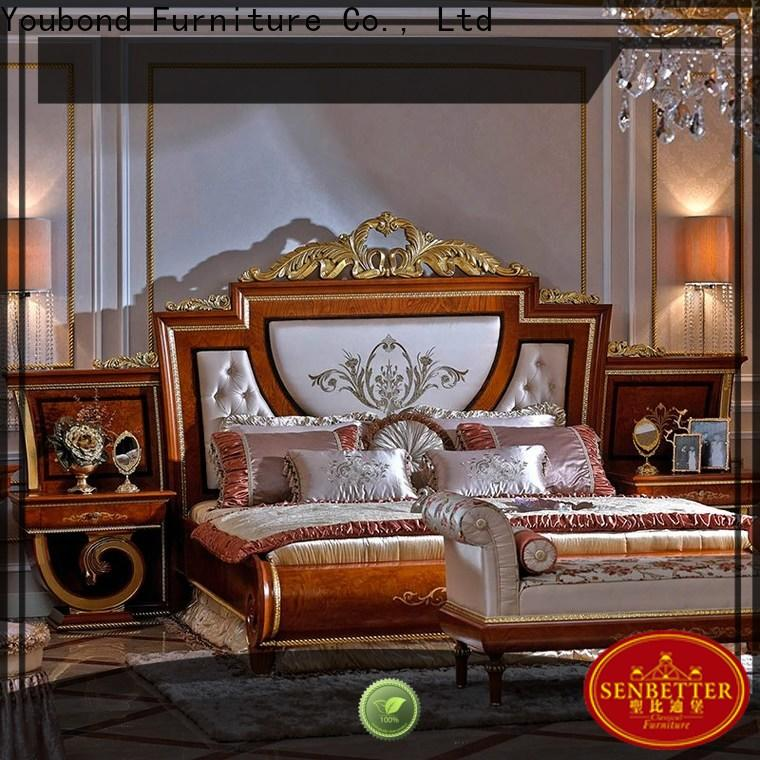 Senbetter new traditional bed design with chinese element for decoration