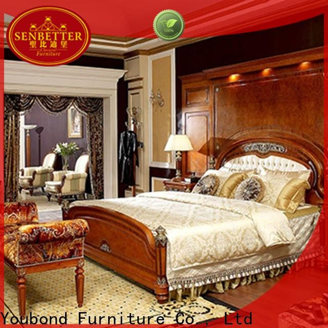 Senbetter veneer aspen bedroom furniture with solid wood table and chairs for decoration