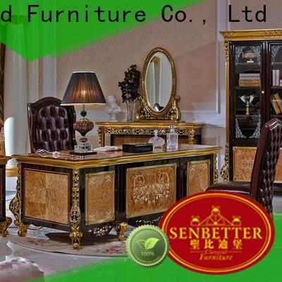 Senbetter wooden solid wood office furniture with bookcase for home