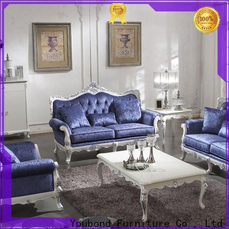 Senbetter formal sofa set with solid wood chair for living room