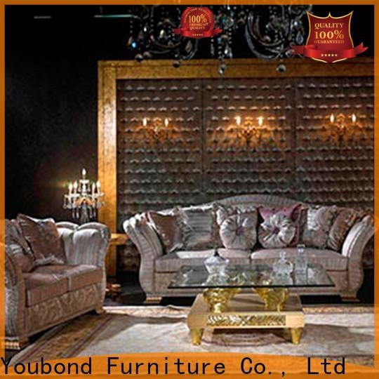 Senbetter new home room furniture with brass accessory for living room