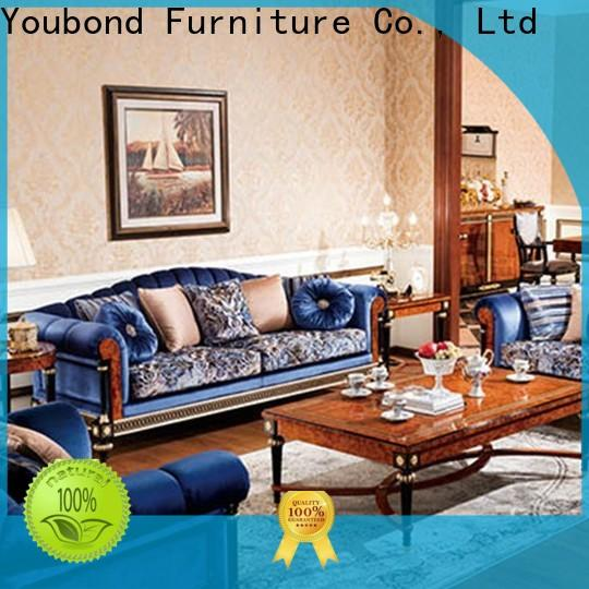 Senbetter fine living room furniture with brass accessory for villa