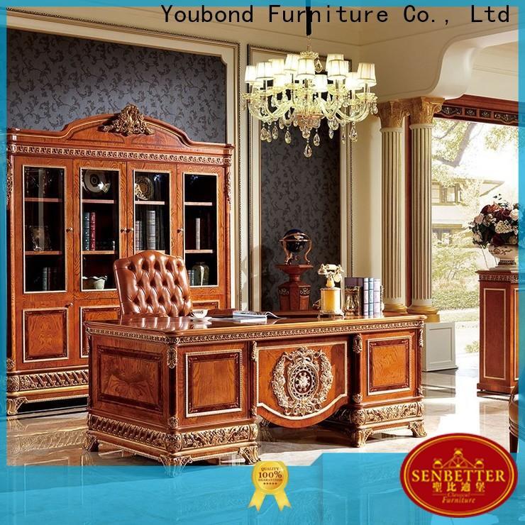 Senbetter antique office storage furniture with office writing desk for villa