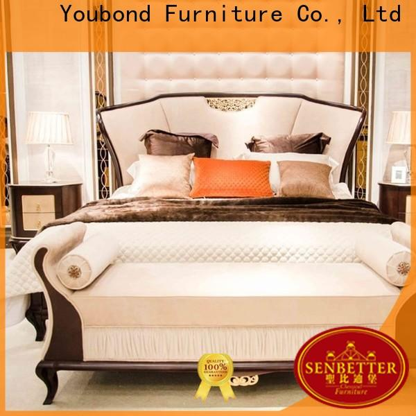 classical glass bedroom furniture suppliers for royal home and villa