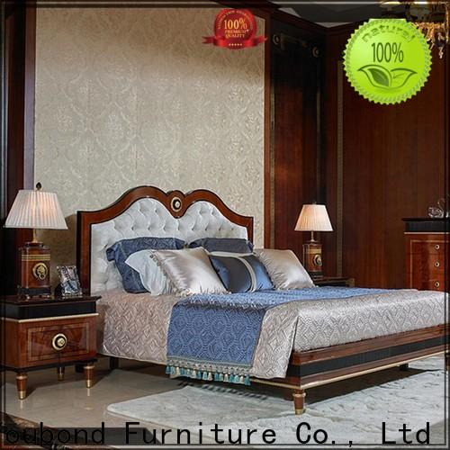 classic white wood bedroom furniture for business for royal home and villa