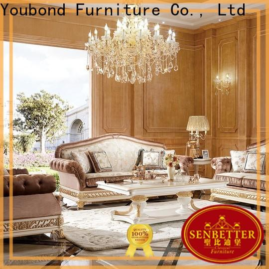 Senbetter custom fancy living room sets with chinese element for villa