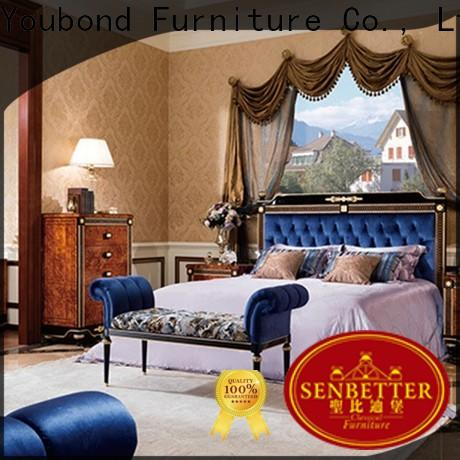 Senbetter new classic versailles bedroom set with solid wood table and chairs for decoration