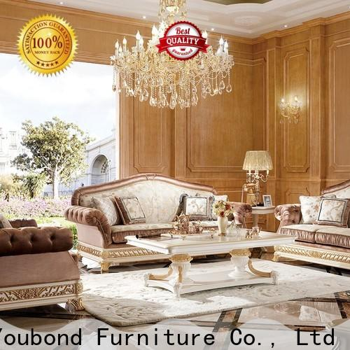 Senbetter traditional couches living room with mirror of buffet for villa
