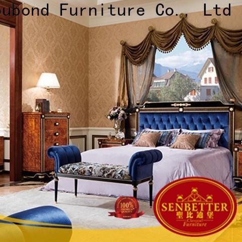 Senbetter white high gloss bedroom furniture with white rim for sale
