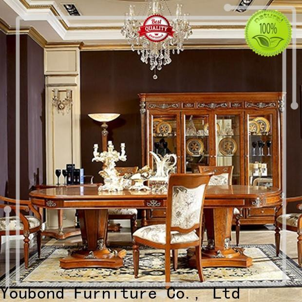 Senbetter dark wood dining table and chairs factory for sale