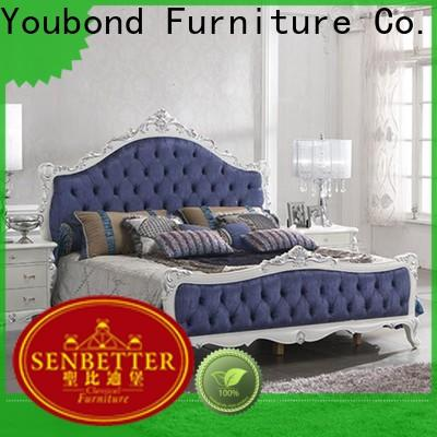 Senbetter high-quality bespoke bedroom furniture with shiny brass accessory decoration for royal home and villa