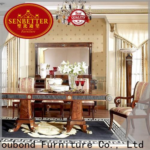 Senbetter solid wood round dining table supply for hotel