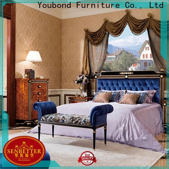 Senbetter natural wood bedroom furniture suppliers for royal home and villa