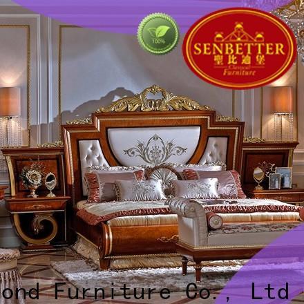 Senbetter dark wood bedroom furniture company for royal home and villa