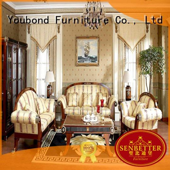 Senbetter white dubai luxury white living room furniture design