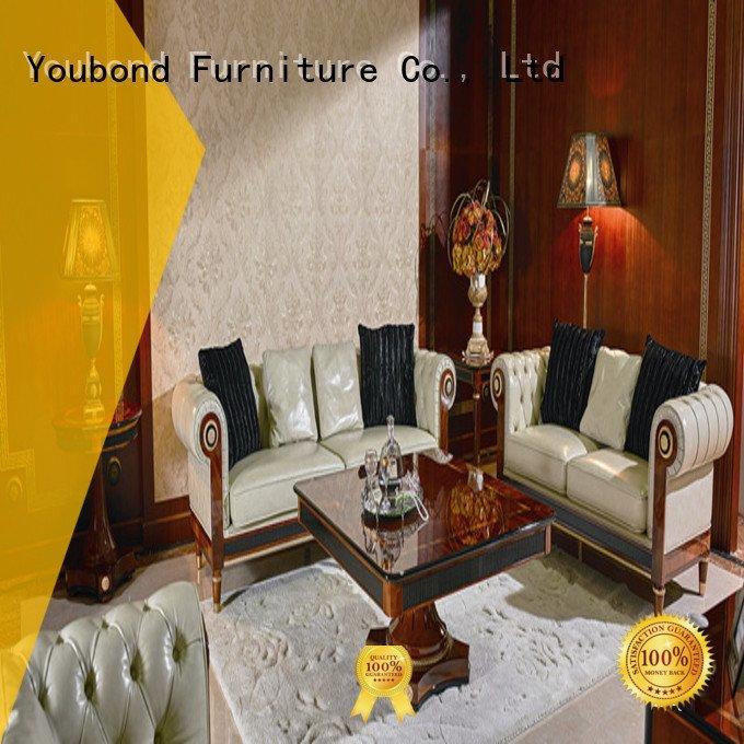 luxury carving delicate Senbetter white living room furniture