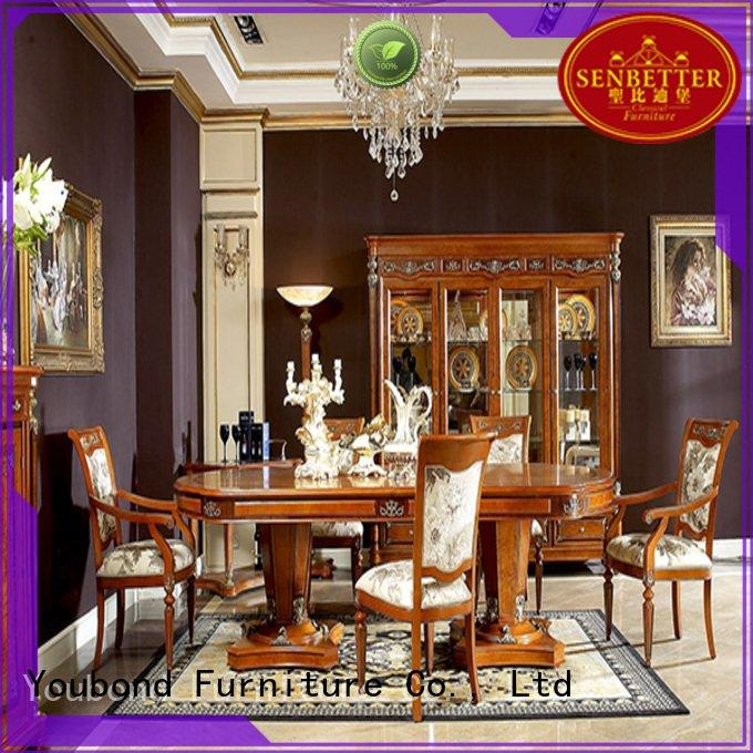 Senbetter solid classic dining room furniture classic dining