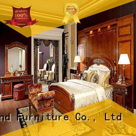 Custom gross solid wood bedroom furniture veneer oak bedroom furniture