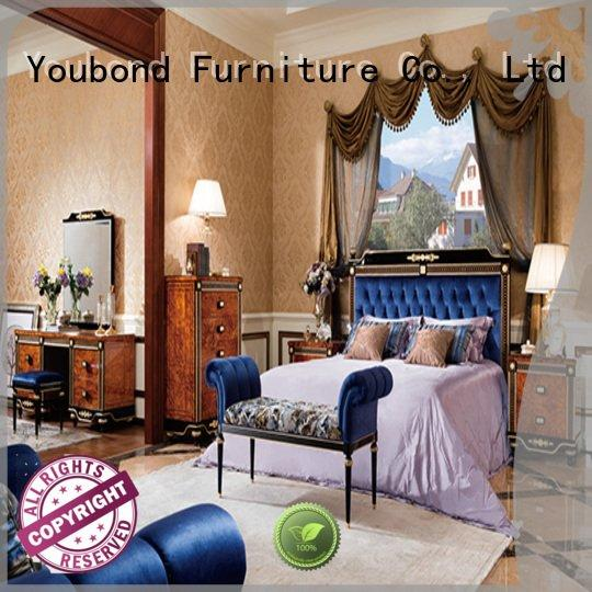 classic mahogany OEM solid wood bedroom furniture