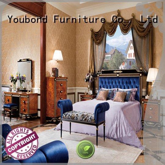 classic mahogany OEM solid wood bedroom furniture