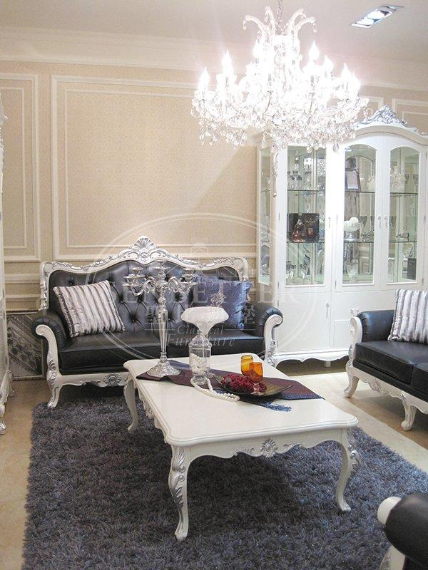 italian living room sofa with buffet for villa-3