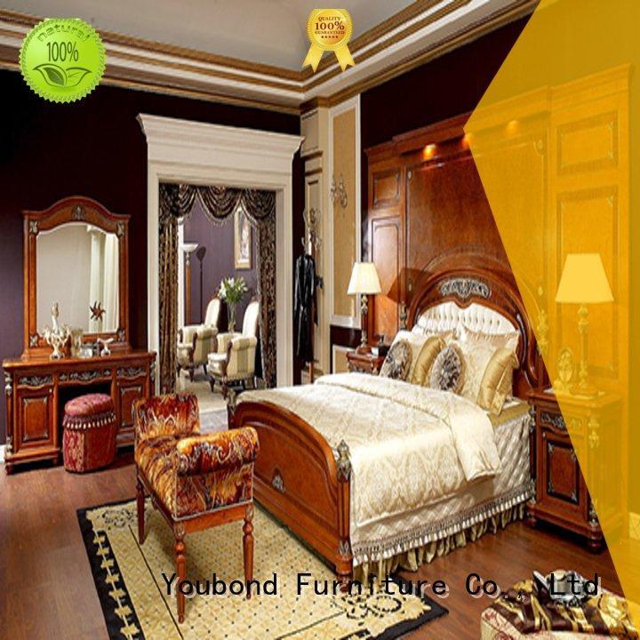 Quality oak bedroom furniture Senbetter Brand simple solid wood bedroom furniture