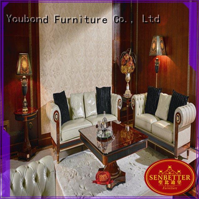 white sofa classic living room furniture Senbetter Brand