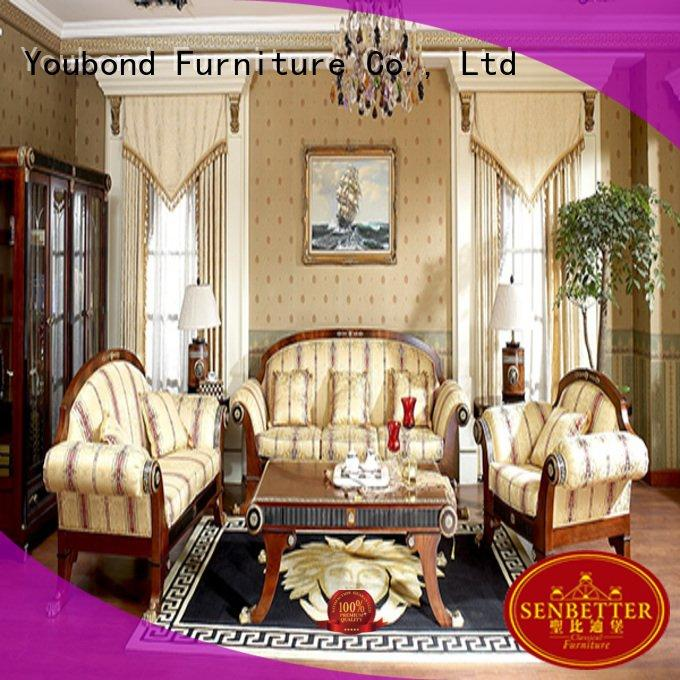 carving classic living room furniture Senbetter white living room furniture