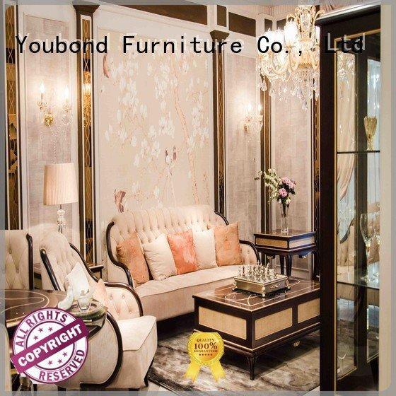0066 delicate wood dubai Senbetter white living room furniture