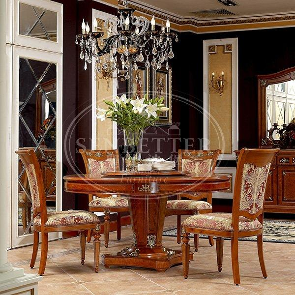 elegant classic dining room furniture sets with buffet for villa-1