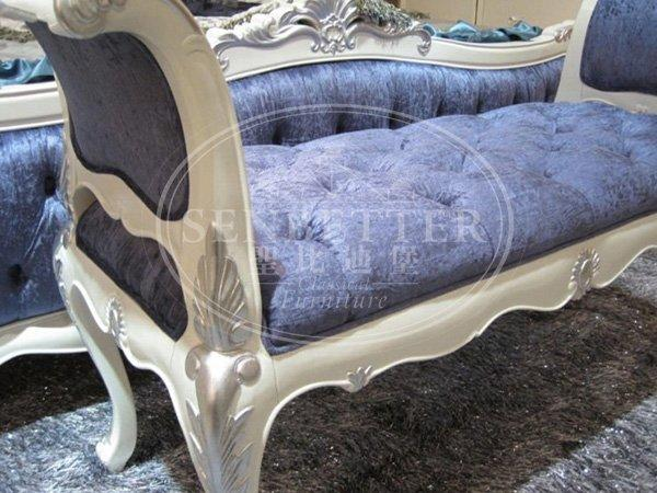 Senbetter italian style luxury bedroom furniture with white rim for royal home and villa-3
