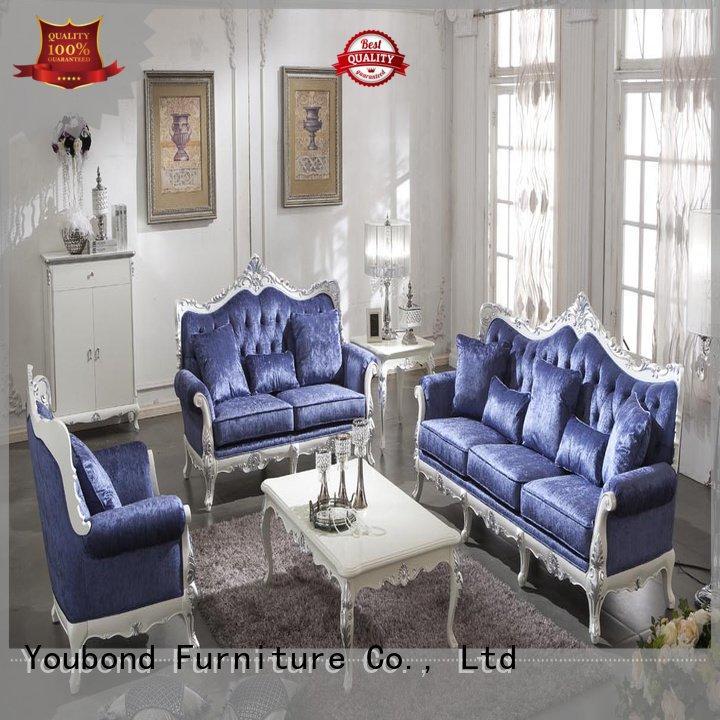 white living room furniture luxury sofa flower carving Senbetter