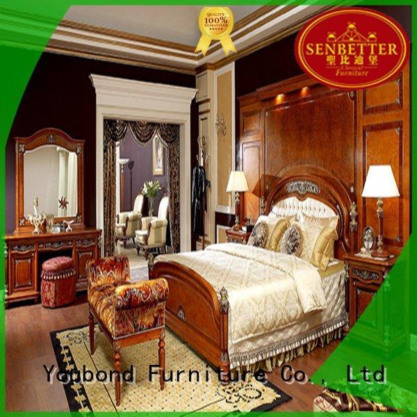 Quality Senbetter Brand mahogany solid wood bedroom furniture