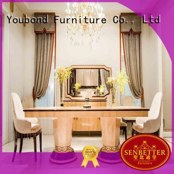 Custom classic dining room furniture villa set wood Senbetter
