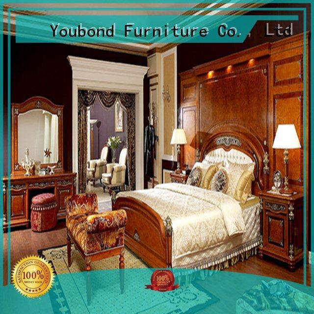 Custom solid wood bedroom furniture mahogany style
