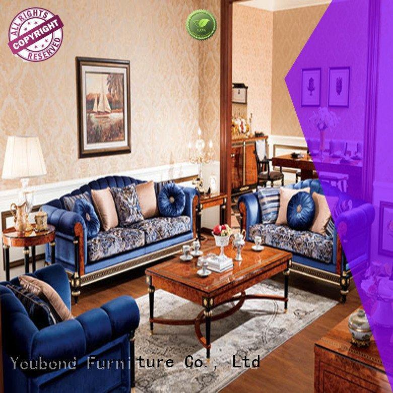 Senbetter Brand wood carving baroque white living room furniture