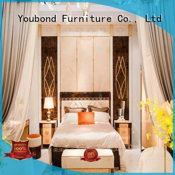 OEM solid wood bedroom furniture classic design oak bedroom furniture