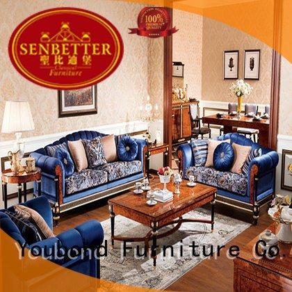wood style Senbetter white living room furniture