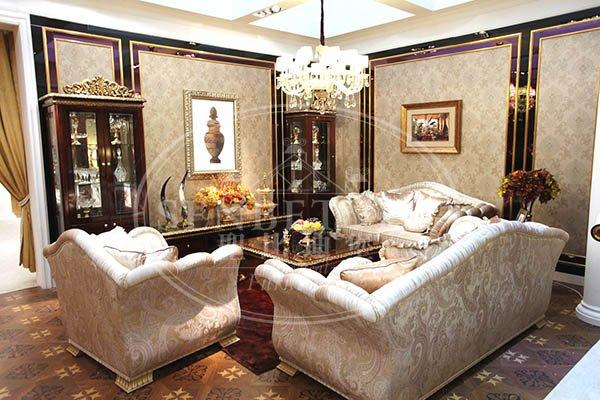 european classic italian furniture living room with chinese element for villa-2